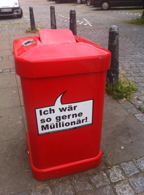 Mülltonne in Hamburg
