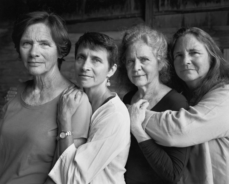 The sisters in 2014, forty years later, older and closer and radiating strength and confidence (c) Nicholas Nixon