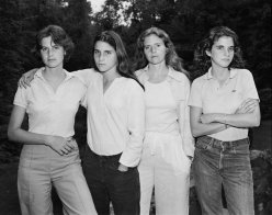 Young, a little cocky, reluctant even but ultimately individual and self-assured - the four sisters in 1975 in the first of forty photographs (c) Nicholas Nixon