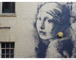 The Girl with the Pierced Eardrum (c) banksy.com