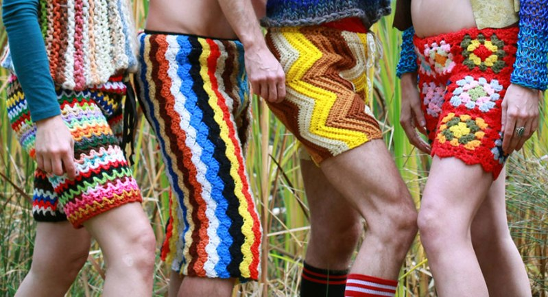 I'd call this challengingly colorful pieces of ... wearable art. WOW! (c) etsy.com/lordvonschmitt