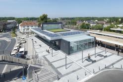 """Der """"Grüne Bahnhof"""" in Kerpen-Horrem. Der erste seiner Art in Europa. Seit Mitte 2014 in Betrieb. (c) www.deutschebahn.com"""