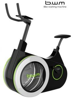 Fahrrad meets Waschmaschine: Ein neuer Trendsport ist geboren. (c) Li Huan