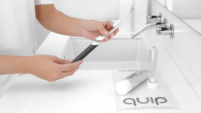 The refill service reminds you to change the brushhead every 3 months for only $5 a piece!!! (c) getquip.com