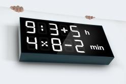 Albert digital clock (c) kickstarter.com #albertclock