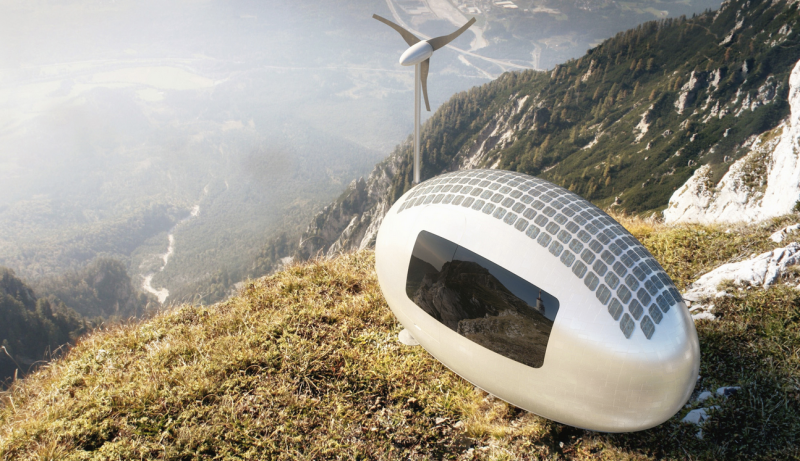 As free as a bird in your very own self-sufficient bird house (c) ecocapsule.sk