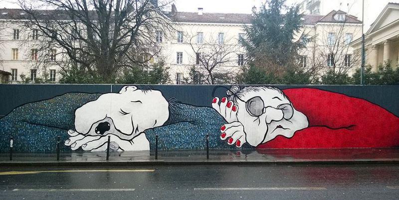 sleeping giant mural by Ella & Pitr (c) papierspeintres.net