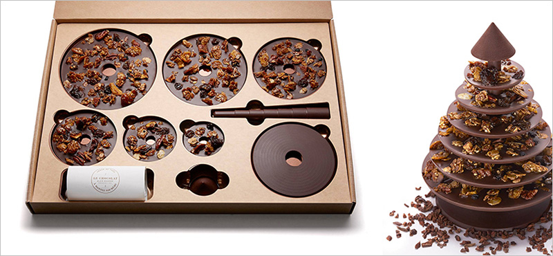 480g of yummy sweetness for Christmas. Only the Xmas lights are missing. (c) lechocolat-alainducasse.com
