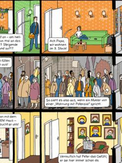 Das Hochhaus von Katharina Greve, Großstadt-Webcomic