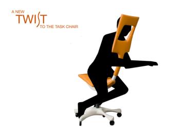 Das Unicum unter den Bürostühlen: der Twist Chair (c) mirayoktem.carbonmade.com