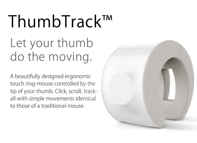 thumbtrack wearable mouse