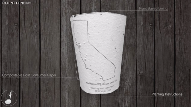 plantable coffee cup kickstarter
